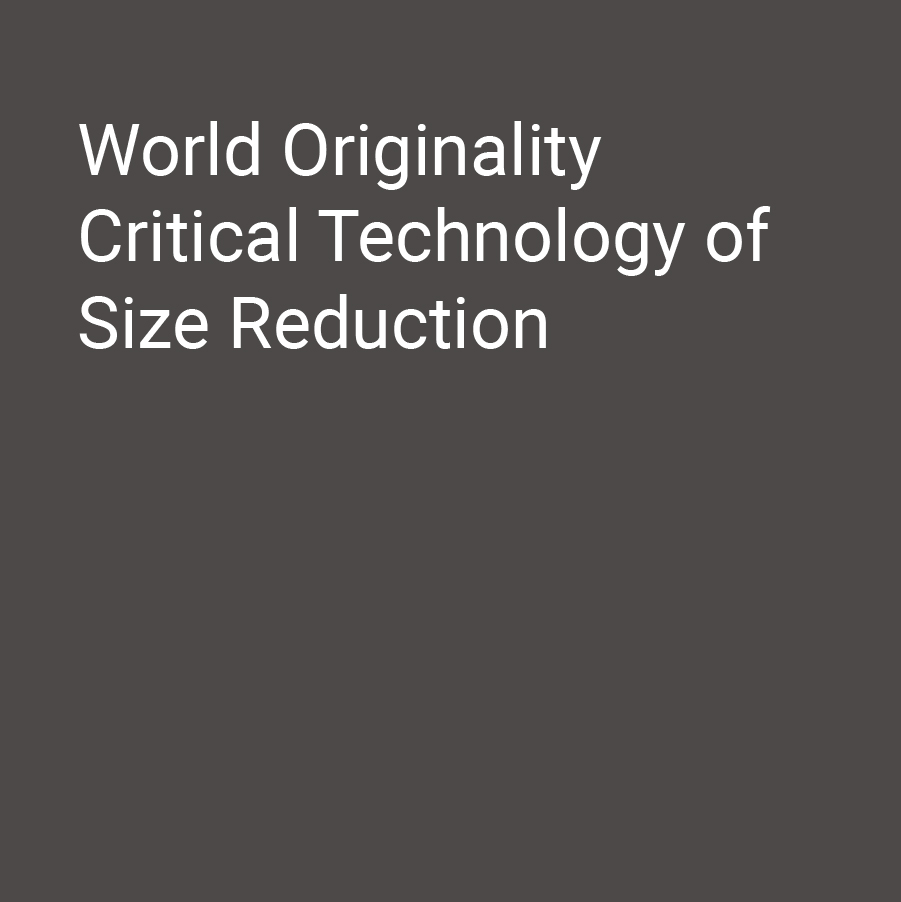 World Originality Critical Technology of Size Reduction